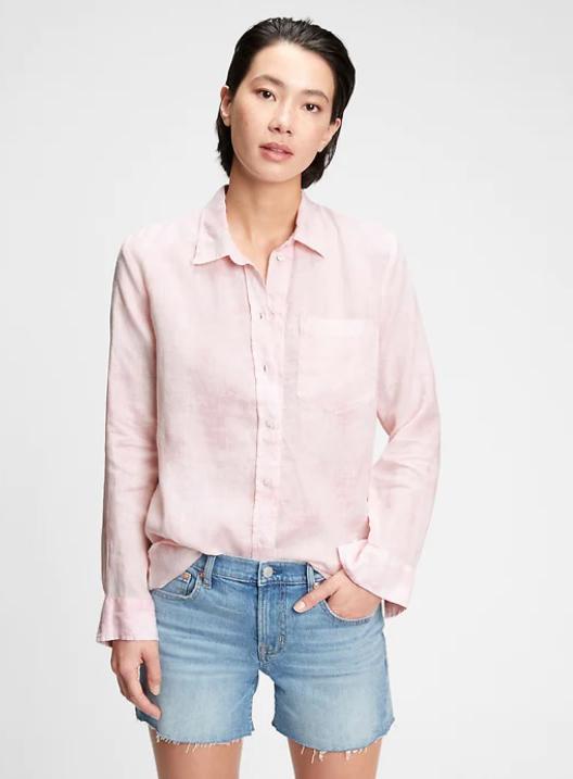 Linen Boyfriend Shirt