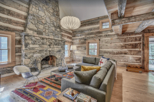 Newly Renovated Vintage Log Cabin with Rustic, Modern Design in Egg Harbor