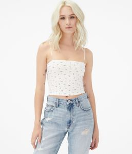 Seriously Soft Tiny Floral Cropped Bungee Cami