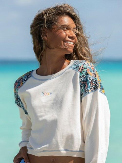 ROXY x LIBERTY Marine Bloom Neck Sweatshirt