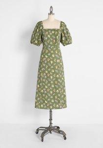 Promising In Posies Midi Dress By Princess Highway