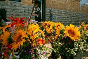 Oshkosh Farmers market sunflower bouquets
