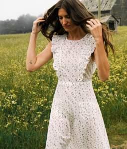 The Jessa Dress In Pearl Aster Garden