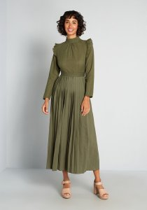Charming in Cottagecore Twofer Maxi Dress By Little Mistress