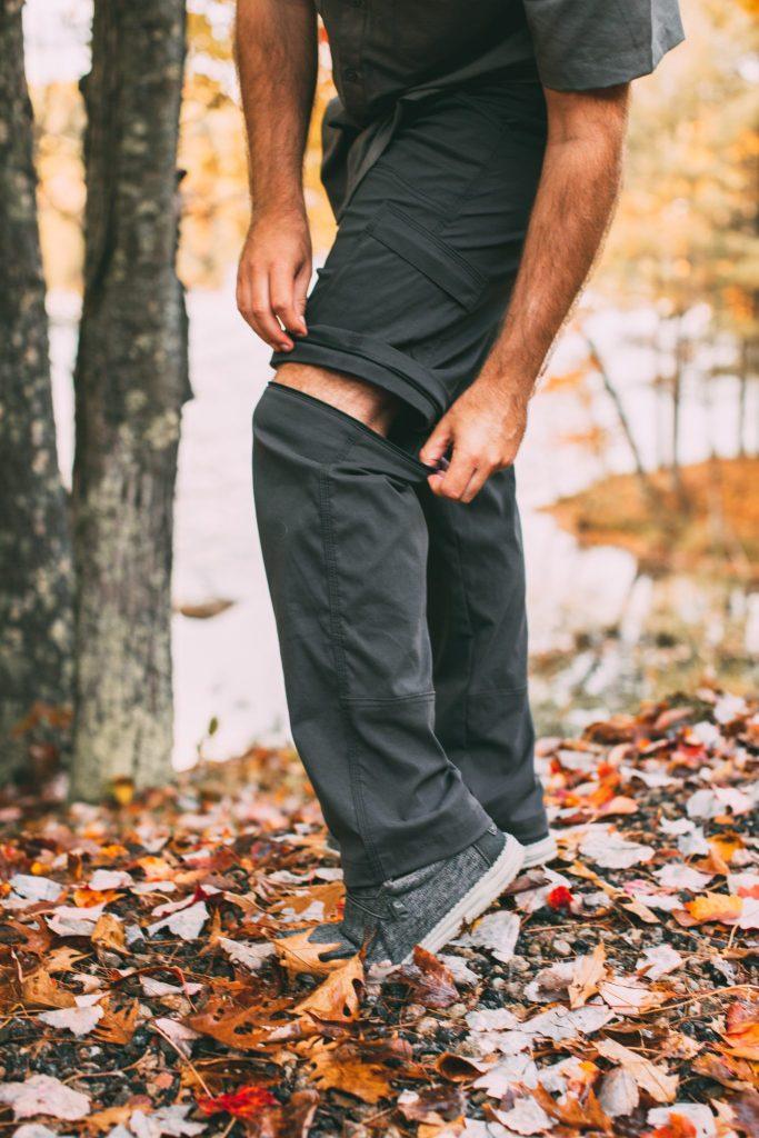 Men's convertible pants by prAna.