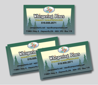 Whispering Pines Business Cards