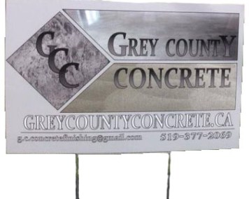 Grey County Concrete Sign