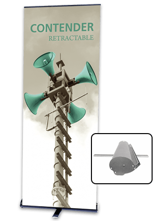 Contender banner stand