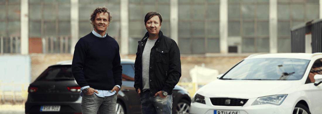 Partanen ja Tuppurainen blogaavat Have a drive -blogissa. Kuva: Piia Arnould