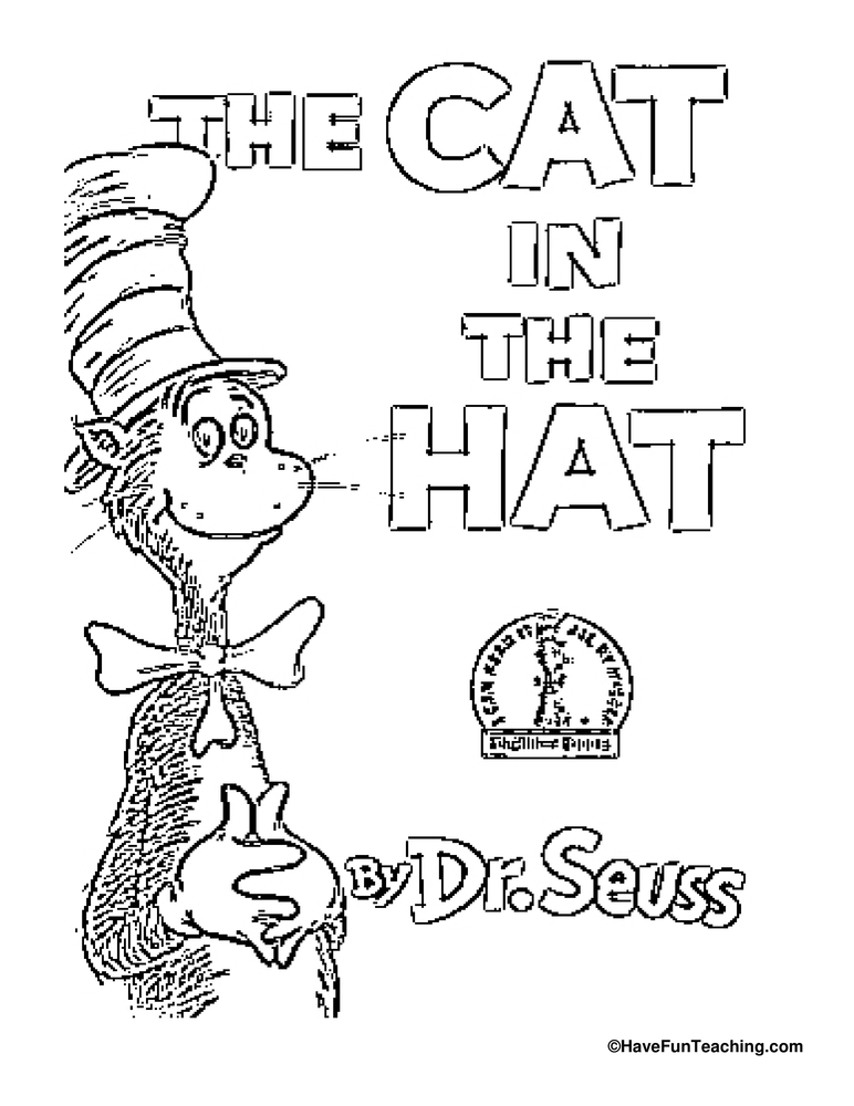 Worksheets The Cat In The Hat Worksheets for free connect the dots cats worksheet dot to page cat in hat coloring worksheets
