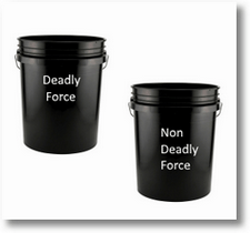 deadly force vs non-deadly force buckets