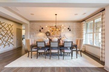 Haven-Design-Works-Atlanta-CalAtlantic-Traditions-Dining-Room-Modern-light-fixture