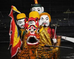 The water puppets of Than Ha