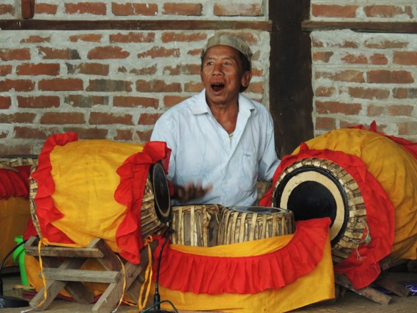 Drummer at the elephant Dance in Tan Kyi Taung, Myanmar.