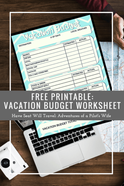 free printable vacation travel budget worksheet have seat will