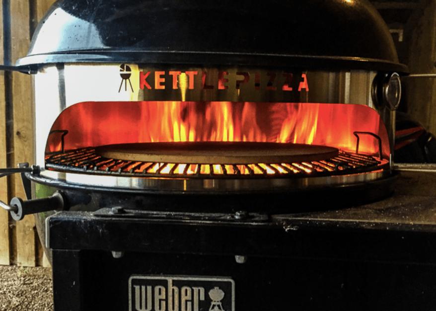 Weber kugle-grill som pizzaovn