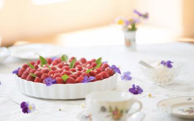 Jordbærtærte med mynte