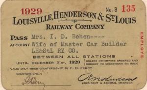 Rail Pass 1929