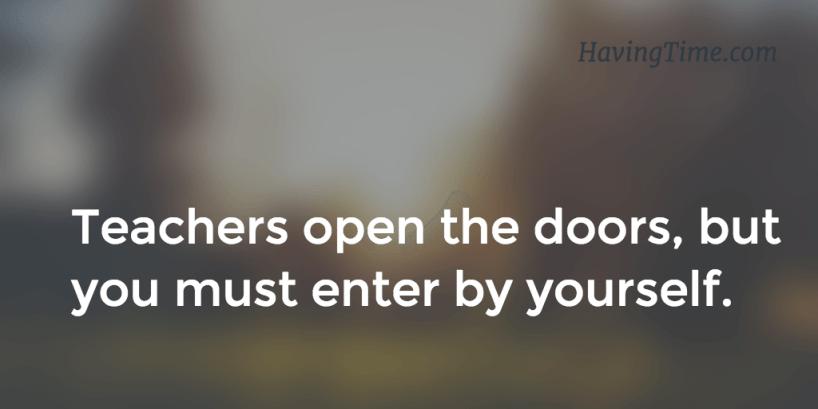 Teachers open the doors
