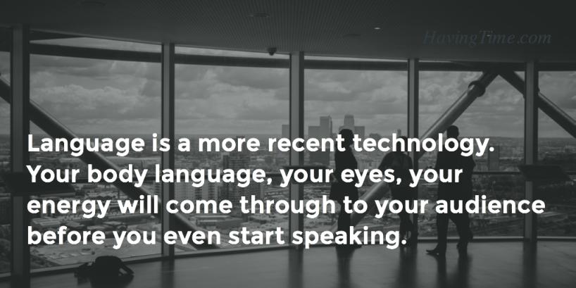 body language quote