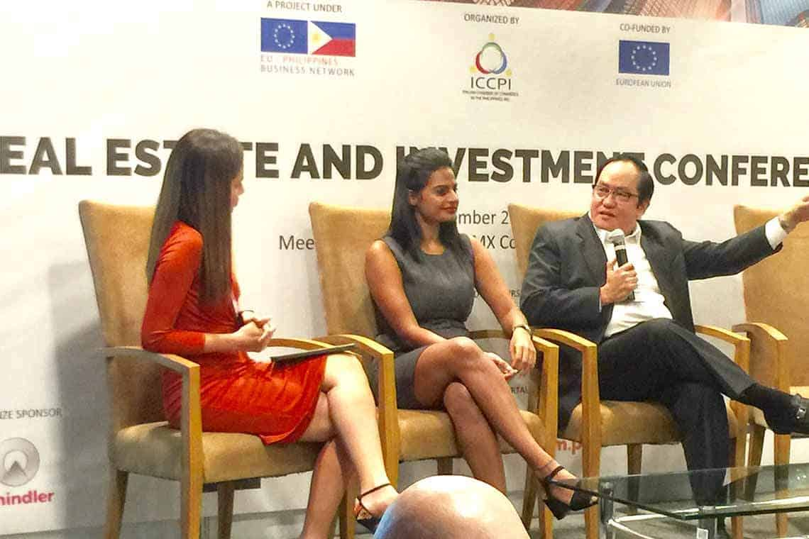 The Italian Chamber of Commerce of the Philippines - Real Estate and Investment Conference 2017. Havitas Developments Chairman Alejandro Manalac with Lamudi CEO Bhavna Chathambeth