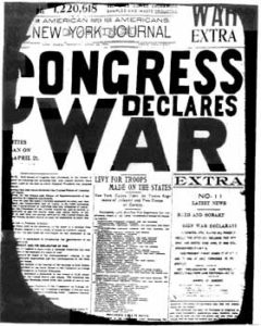 congress declares war