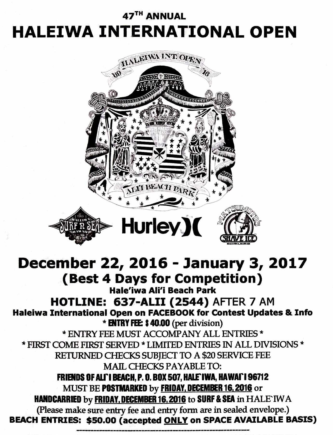 47th Annual Haleiwa International Open