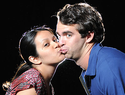 2 actors kissing