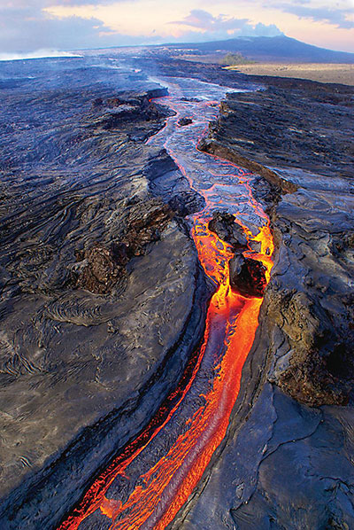 A lava flow from Kilauea volcano