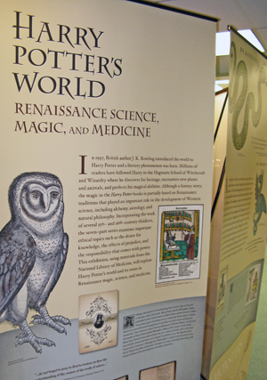 The Harry Potter exhibit explores the background behind the successful series