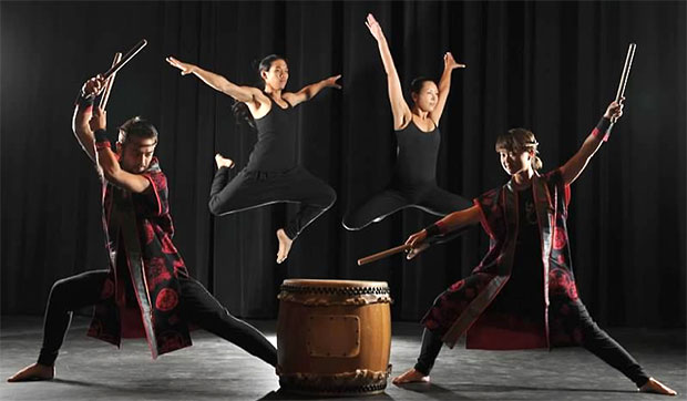 taiko drummers and dancers