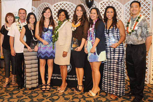 Robert Wood Johnson Foundation scholarship recipients from the UH Mānoa' Master's Entry Program in Nursing