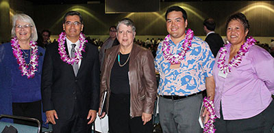 Dignitaries at the 2014 SACNAS national conference in Los Angeles