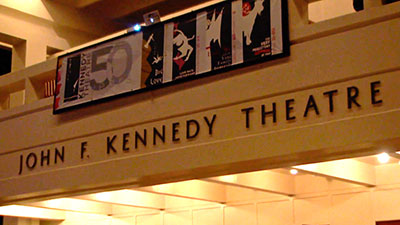 John F. Kennedy Theatre sign