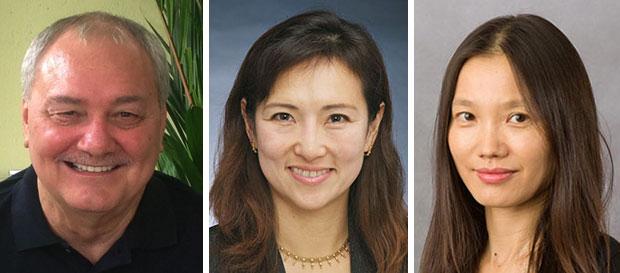Vargo, Okada and Chen headshots