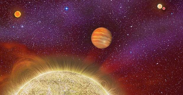 30 ari planet and sun illustration