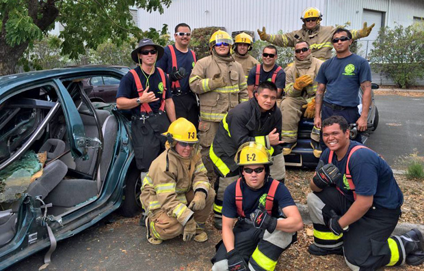Honolulu Community College fire science students