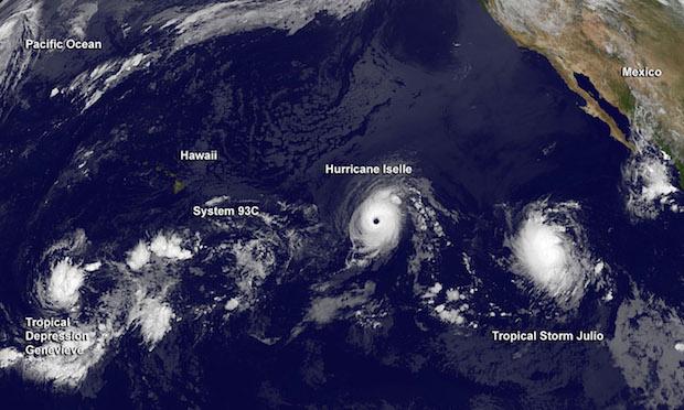 NASA Iselle Julio Hurricane