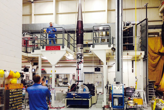 Project Imua payload vibration test on shake table