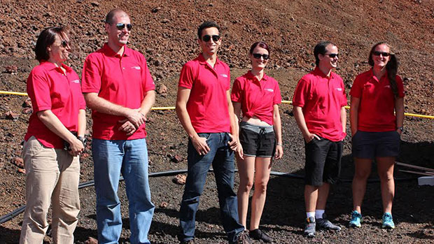 Crew members of the fourth Hawaii Space Exploration Analog and Simulation mission