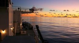 sunset at Station ALOHA at sea