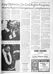 Ka Leo O Hawaii newspaper from 1964 showing coverage of Martin Luther King at University of Hawaii