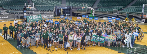 Alyssa and UH Manoa staff and students