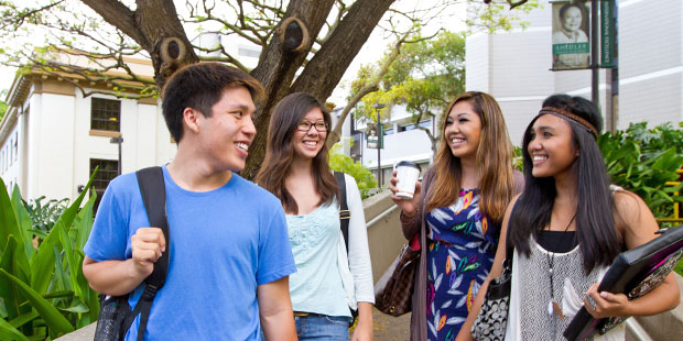 Students at UH Manoa