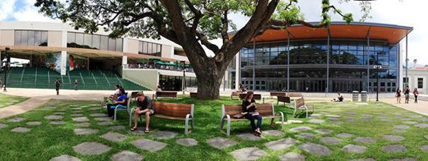 Manoa Campus Center courtyard
