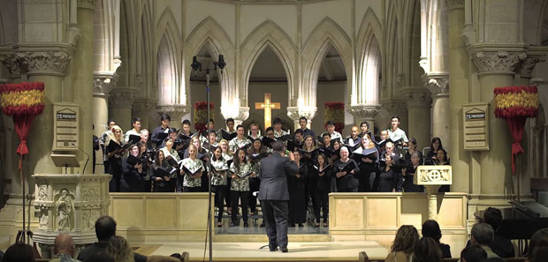 The U H Choir performs at St. Andrews Cathedral