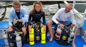 Rebreather dive team