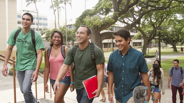Manoa Students Walking F