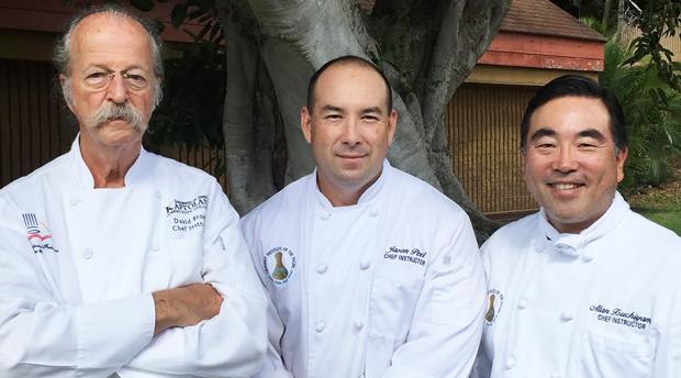 L-R Chef David Brown, Chef Jason Peel and Chef Alan Tsuchiyama