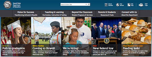 Hawaii Department of Education website
